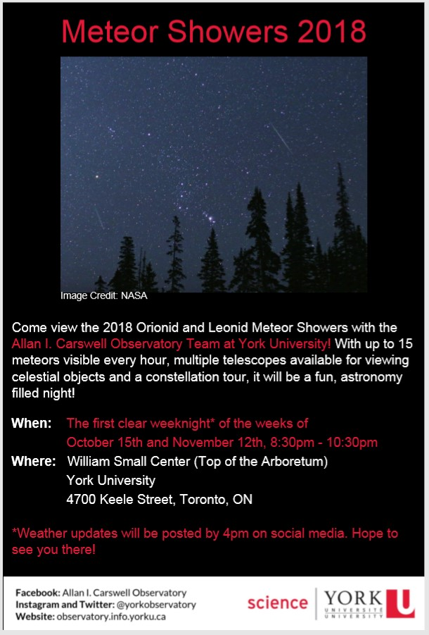 meteor party info poster