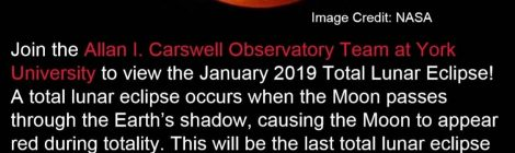 First Event of 2019: Total Lunar Eclipse Viewing Event