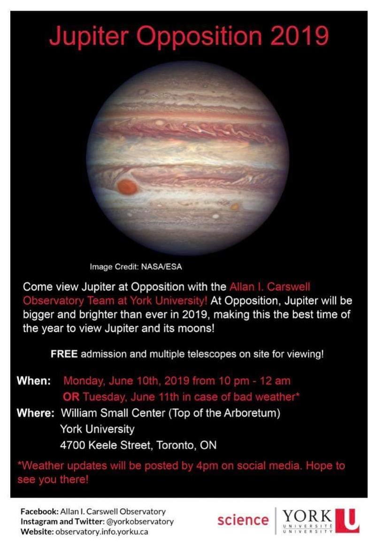 Jupiter Opposition event 2019 poster
