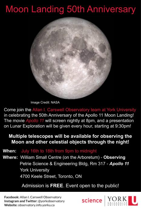 Poster for 50th anniversary of the Apollo 11 moon landing